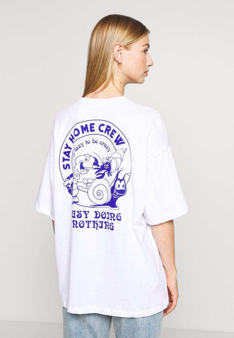 Even&Odd - T-shirt con stampa - white