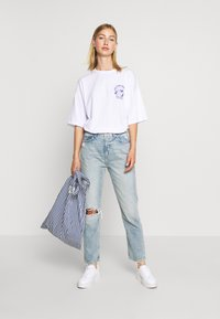 Even&Odd - T-shirt con stampa - white - 1