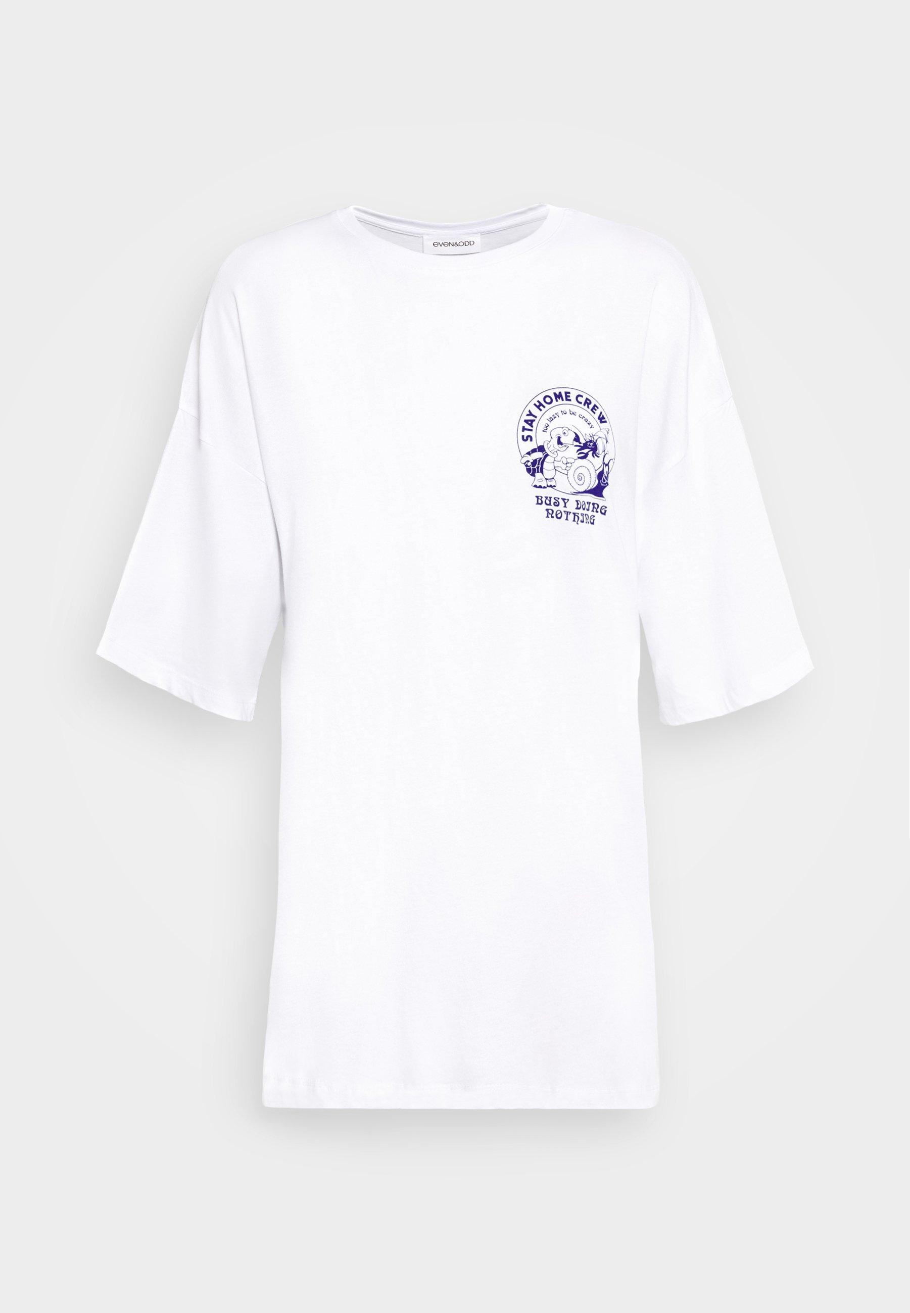 Even&Odd T shirt imprimé white ZALANDO.FR