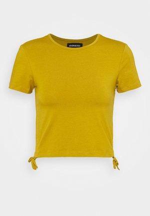 Basic T-shirt - ecru olive