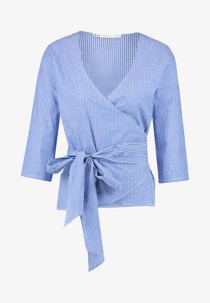 Blouse - white/blue