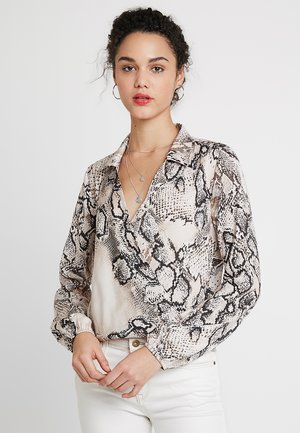 Blouse - off-white/brown