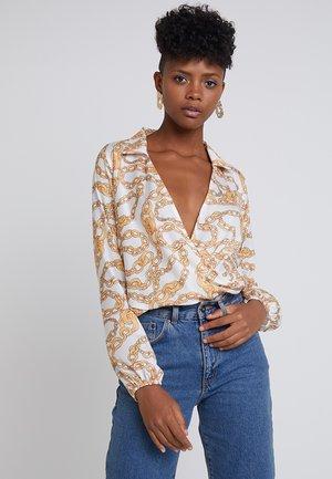 Blouse - white/gold