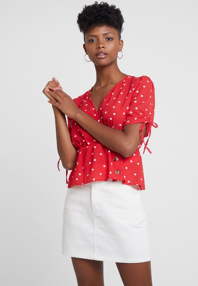 Even&Odd - Blouse - white/red