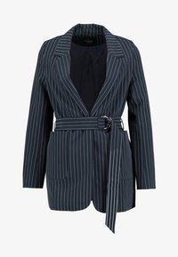 Even&Odd - Krátký kabát -  dark blue/ white - 3