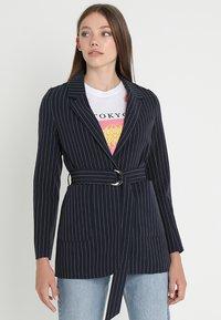 Even&Odd - Krátký kabát -  dark blue/ white - 0