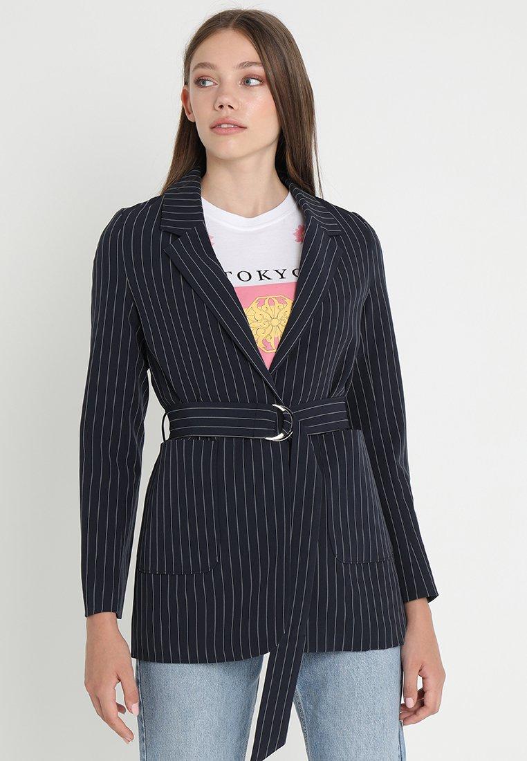Even&Odd - Krátký kabát -  dark blue/ white
