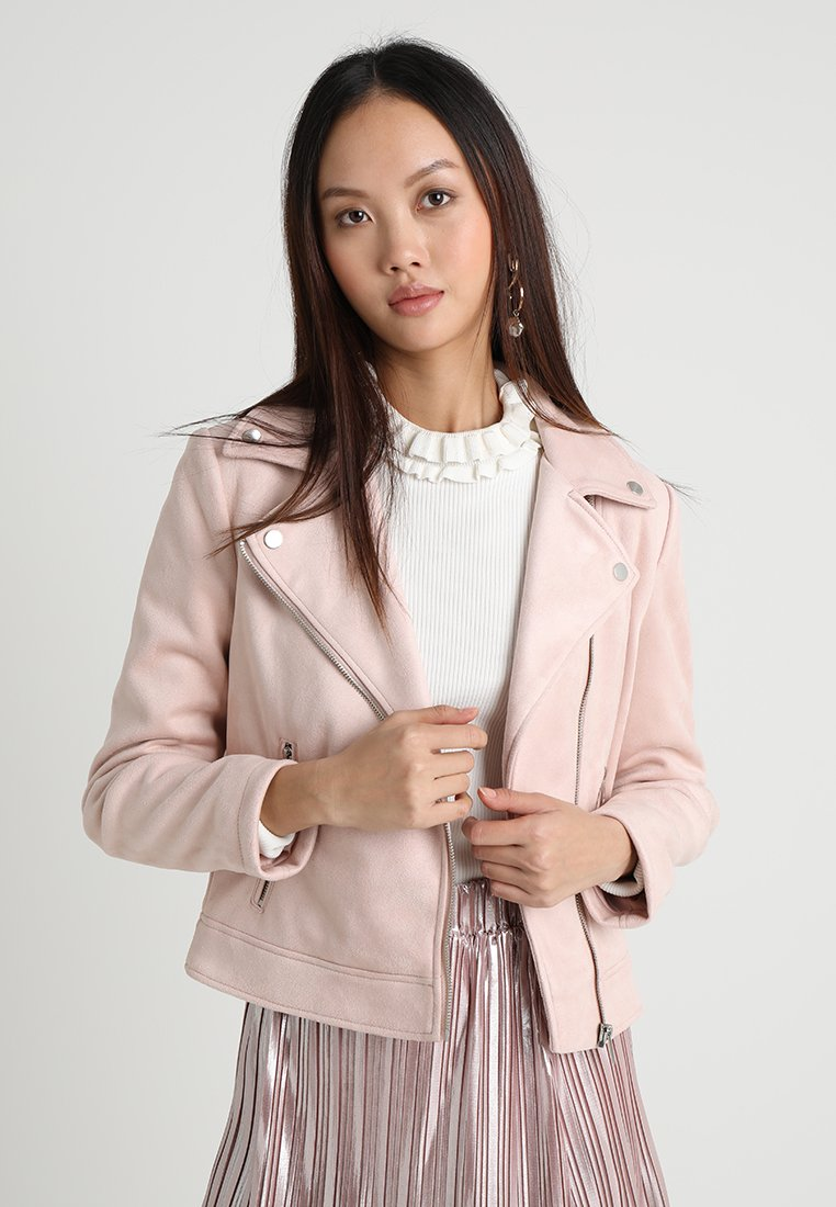 Even&Odd - Faux leather jacket - light pink