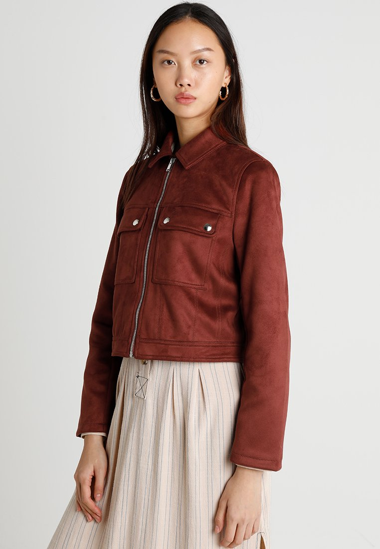 Even&Odd - Faux leather jacket - dark brown