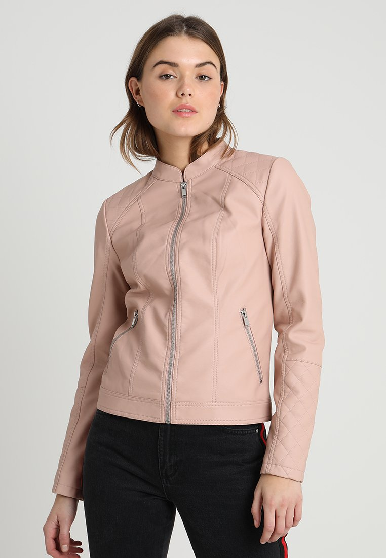 Even&Odd - Faux leather jacket - rose