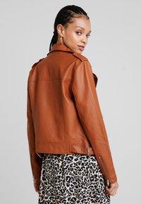 Even&Odd - Imitatieleren jas - brown - 2