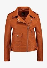 Even&Odd - Imitatieleren jas - brown - 3