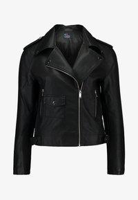 Even&Odd - Imitatieleren jas - black - 4