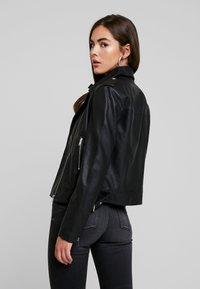 Even&Odd - Imitatieleren jas - black - 2