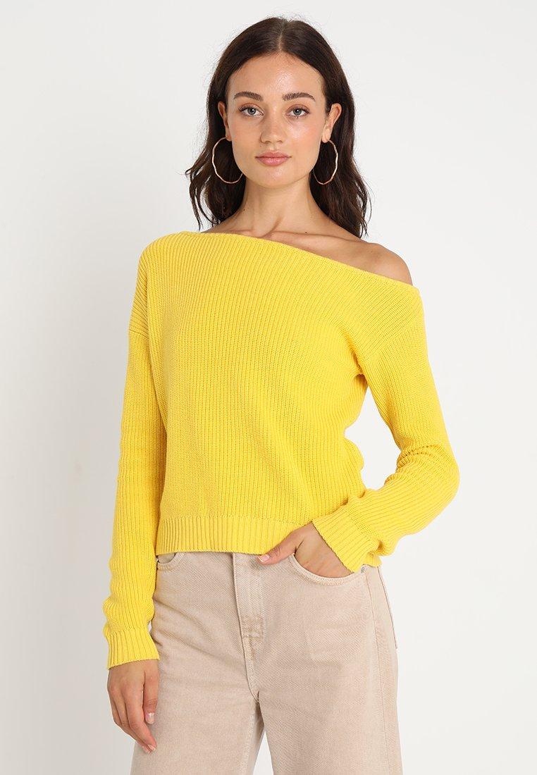 Even&Odd - Strickpullover - dark yellow