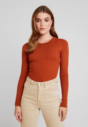 Strikkegenser - brown