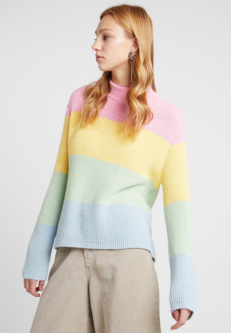 Even&Odd - Jersey de punto - yellow/pink/blue