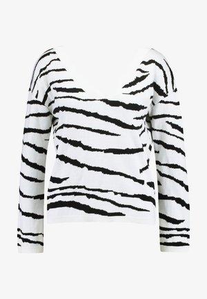 Jersey de punto - white/black