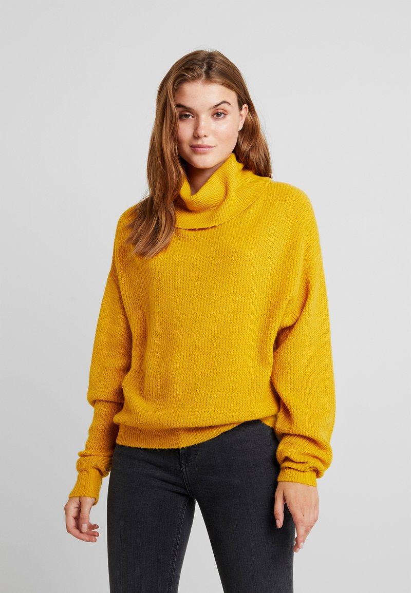 Even&Odd - Strikpullover /Striktrøjer - dark yellow