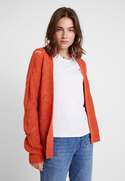 trwałe modelowanie Even&Odd Kardigan - orange Odzież Damska QTLP-GU8