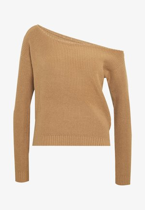 BASIC- off shoulder jumper - Pullover - sand