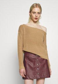 Even&Odd - Stickad tröja - sand - 0