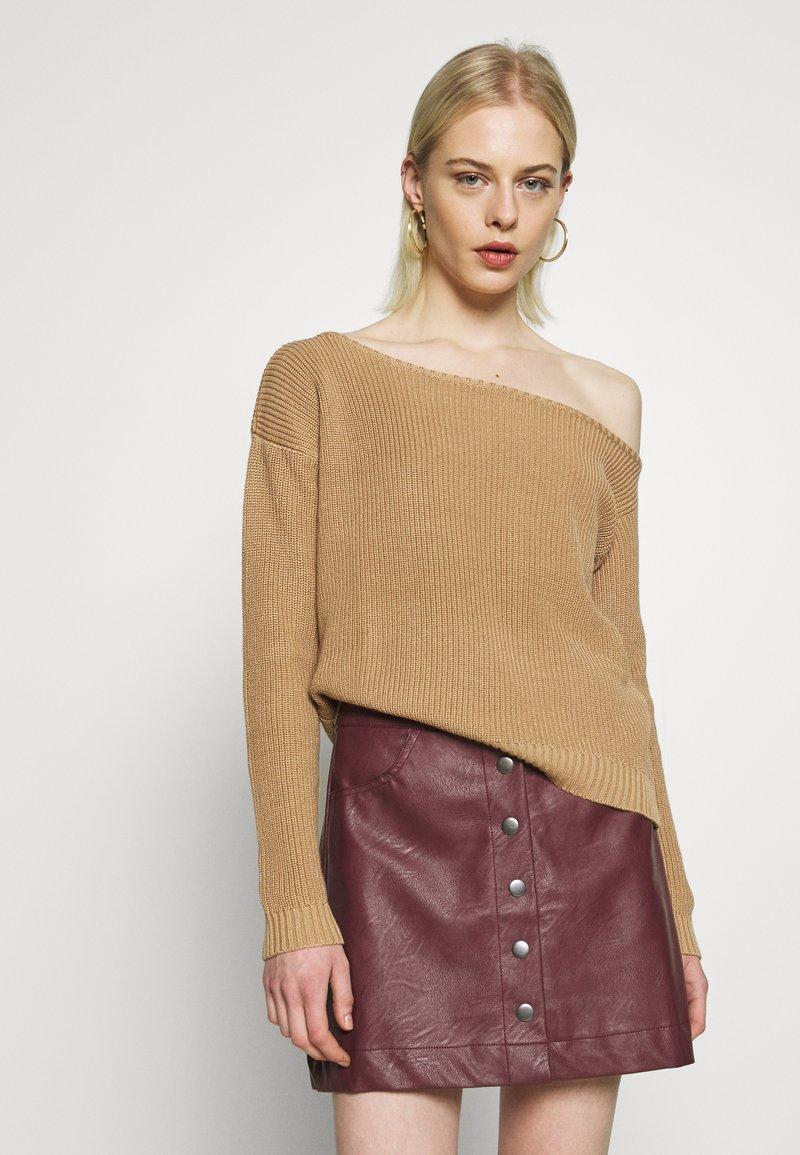 Even&Odd - Stickad tröja - sand