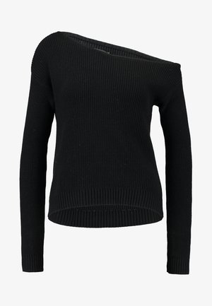 BASIC- off shoulder jumper - Jumper - black