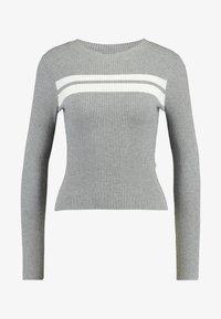 Even&Odd - Strikkegenser - grey/white - 4