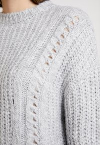 Even&Odd - Sweter - light grey melange - 4