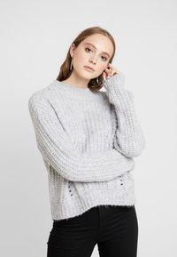 Even&Odd - Sweter - light grey melange - 0