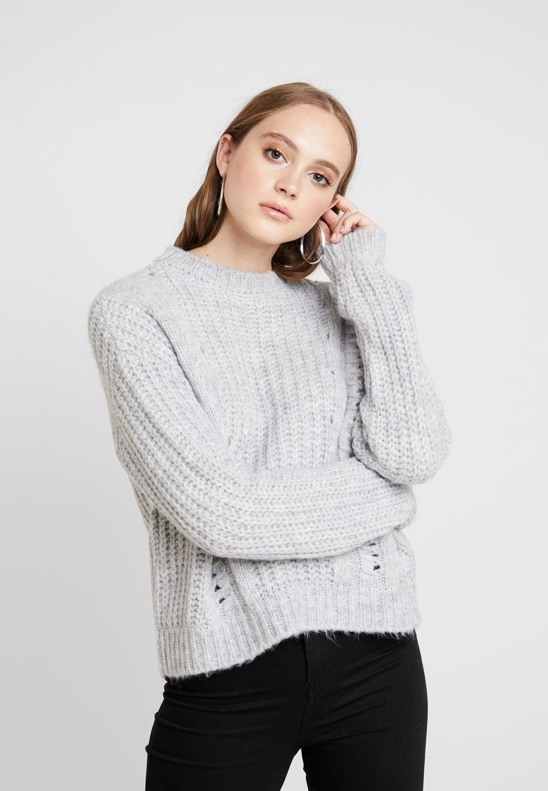 Even&Odd - Sweter - light grey melange