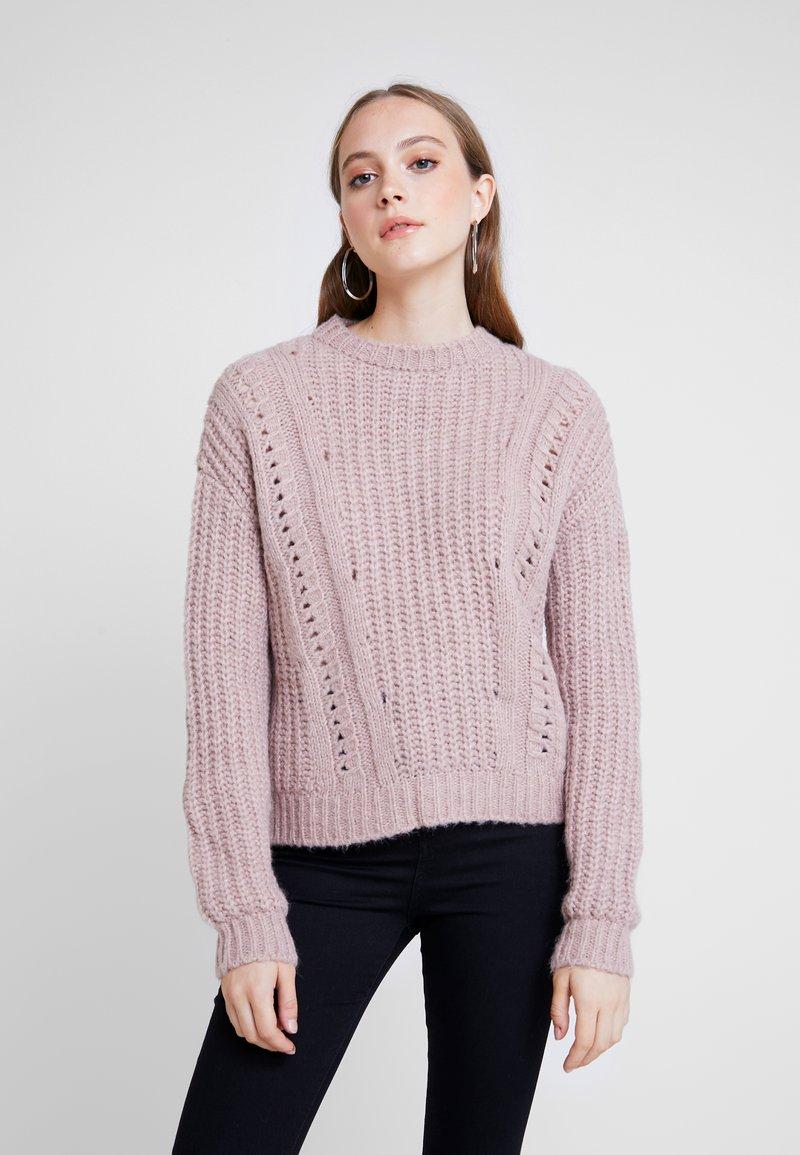 Even&Odd - Strikpullover /Striktrøjer - light pink