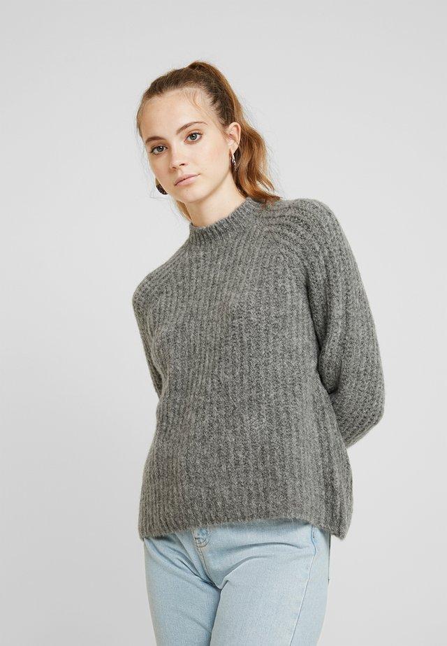 Pullover - dark grey melange/black