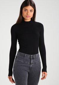 Even&Odd - Stickad tröja - black - 0