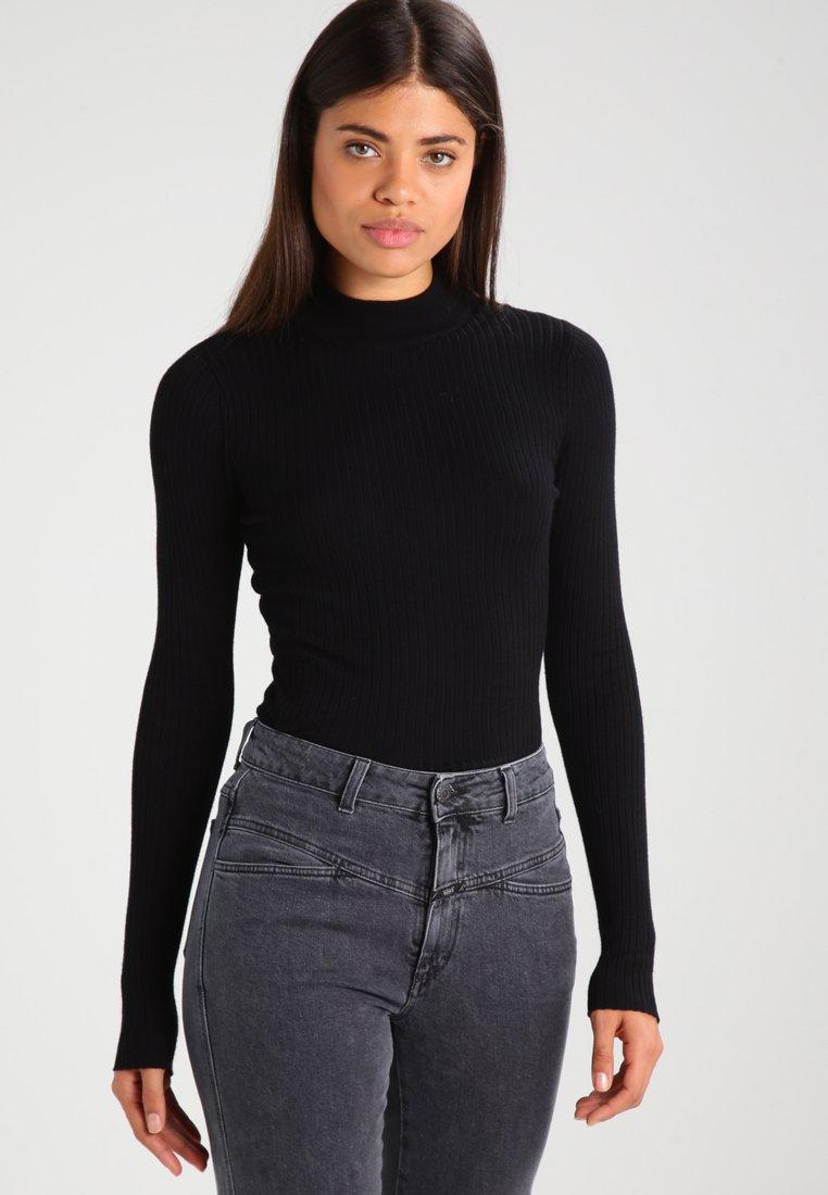 Even&Odd - STRICKPULLOVER BASIC - Jersey de punto - black