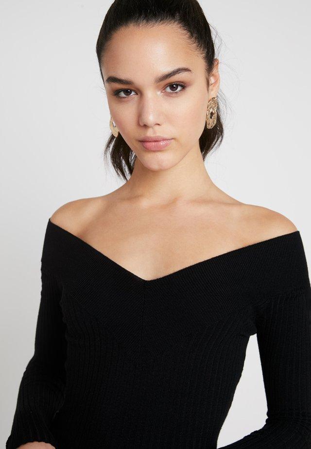 Bardot neckline - Pullover - black