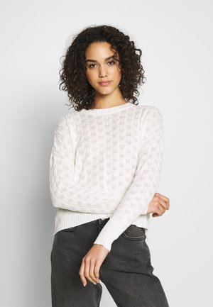STRUCTURED JUMPER  - Strikpullover /Striktrøjer - white
