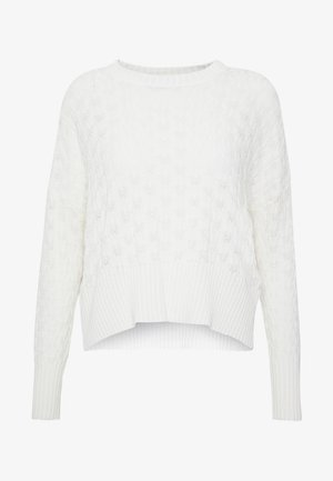 STRUCTURED JUMPER  - Strikkegenser - white