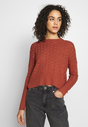 STRUCTURED JUMPER  - Jumper - rusty