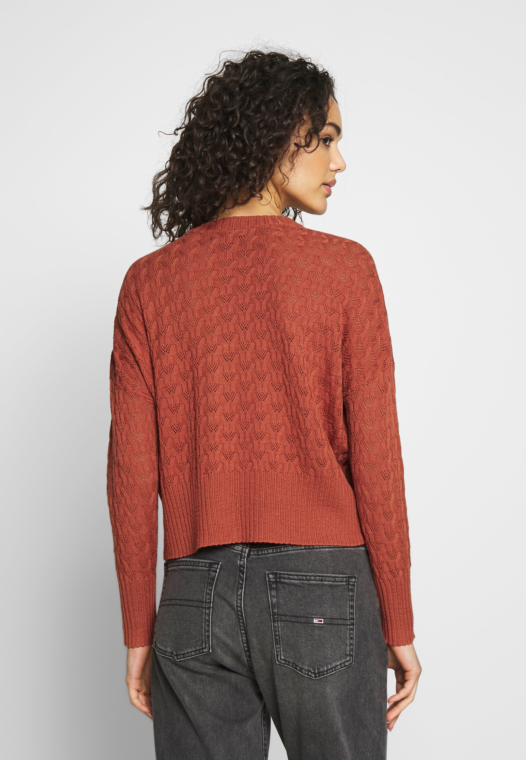 Even&Odd STRUCTURED JUMPER  - Sweter - rusty