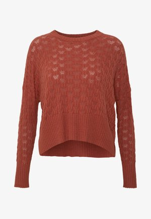 STRUCTURED JUMPER  - Pullover - rusty