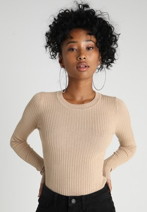 STRICKPULLOVER BASIC  - Jumper - sand