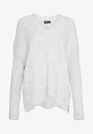 V NECK JUMPER - Jersey de punto - grey