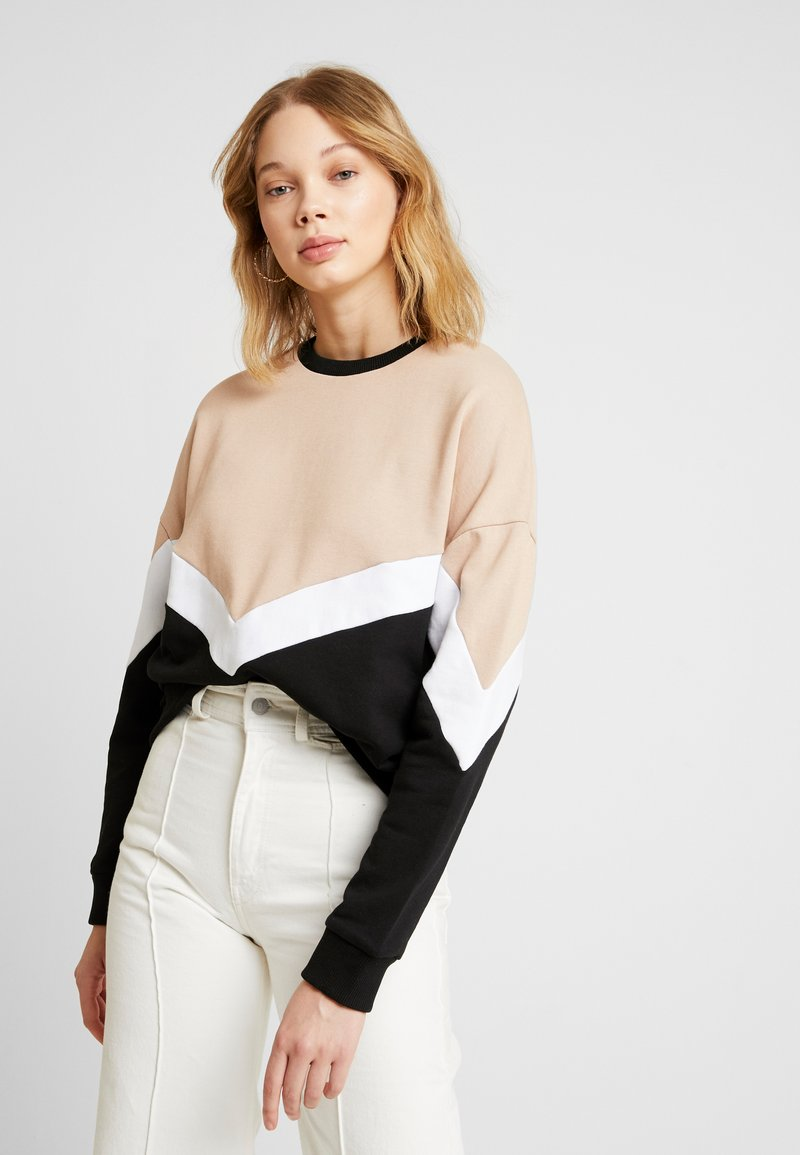 Even&Odd - Sweatshirt - sand/black