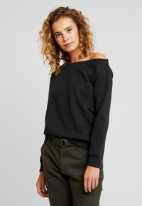 Even&Odd - BASIC - Sweatshirt - black - 0