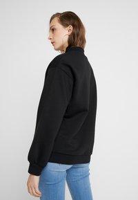 Even&Odd - High Collar Sweatshirt - Sweater - black - 2