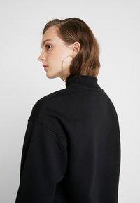 Even&Odd - High Collar Sweatshirt - Sweater - black - 3
