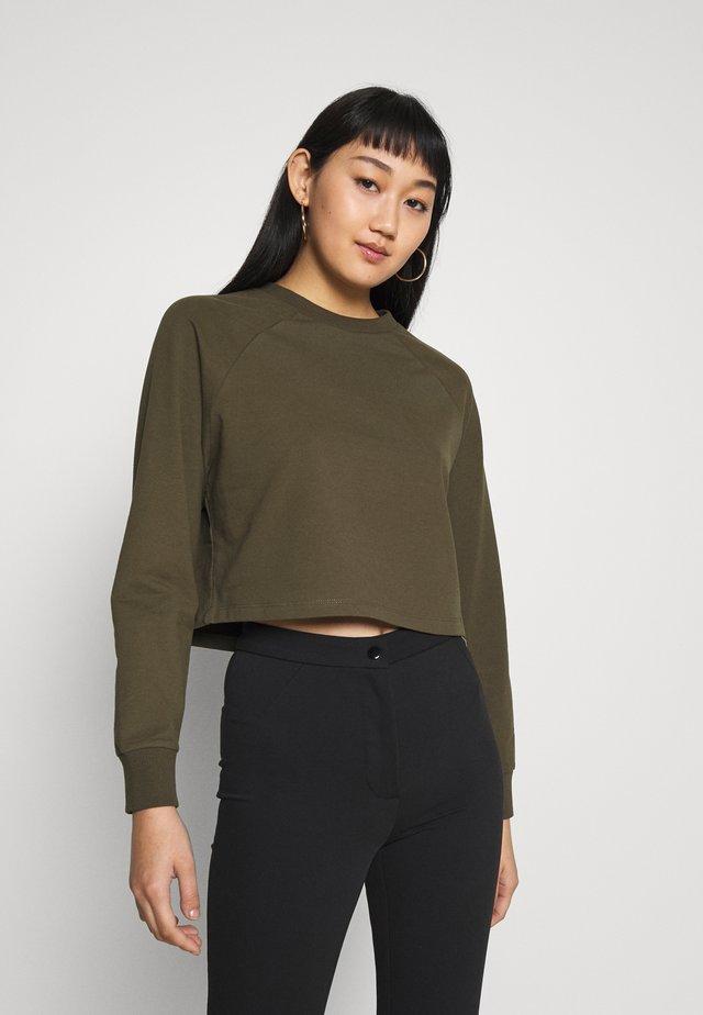 BASIC - Cropped - Sweatshirt - khaki