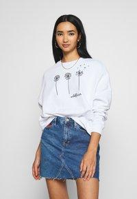Even&Odd - Printed Crew Neck - Sweatshirt - white - 0
